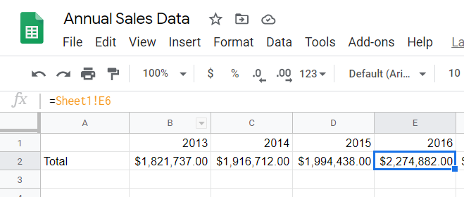 Formula copied to adjacent cells, cell reference still working