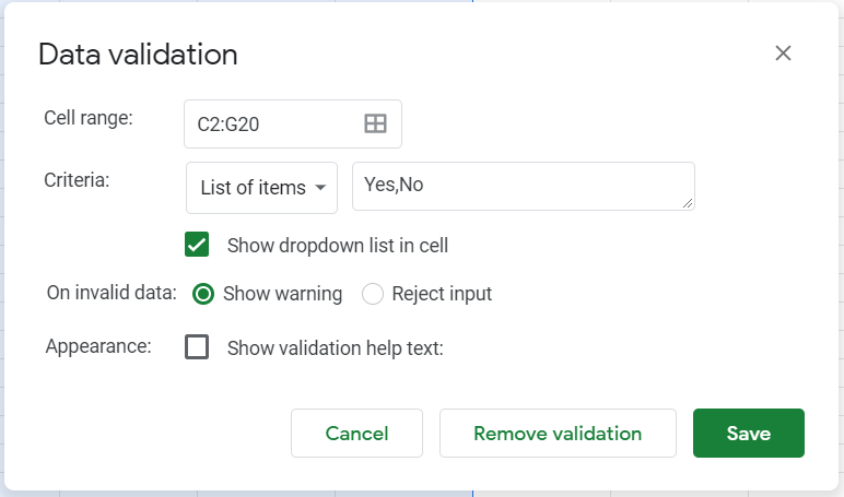 Yes and No listed as Yes,No in the list of items for drop-down menu