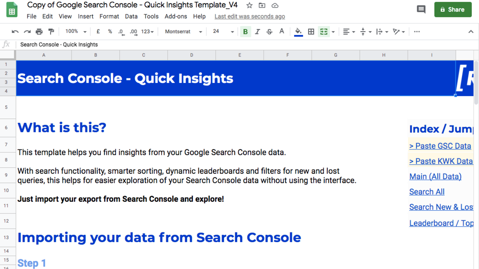 Google Search Console Quick Insights