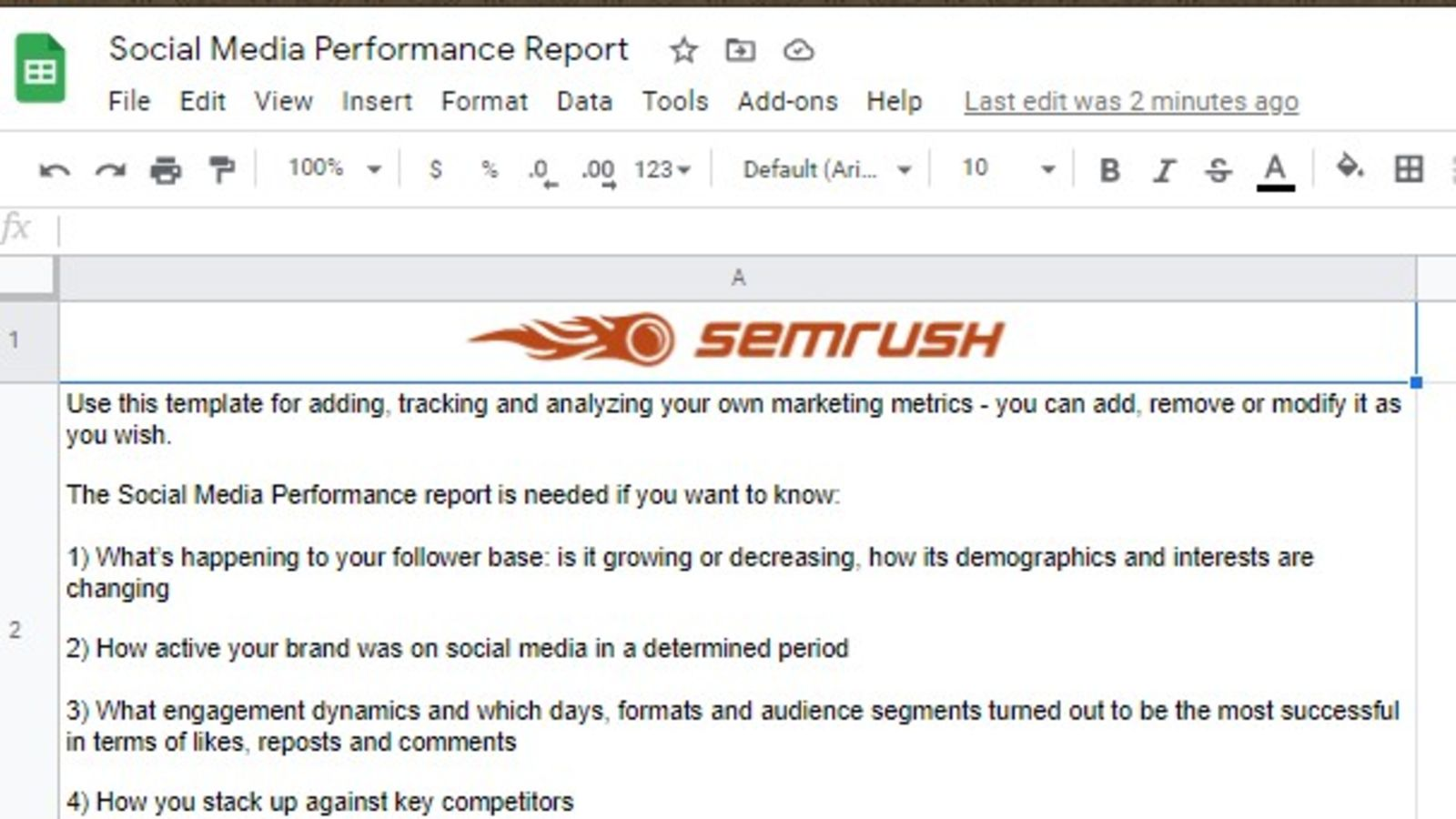 Social Media and PR Report
