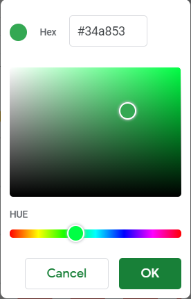 A more sophisticated color palette to customize your color.