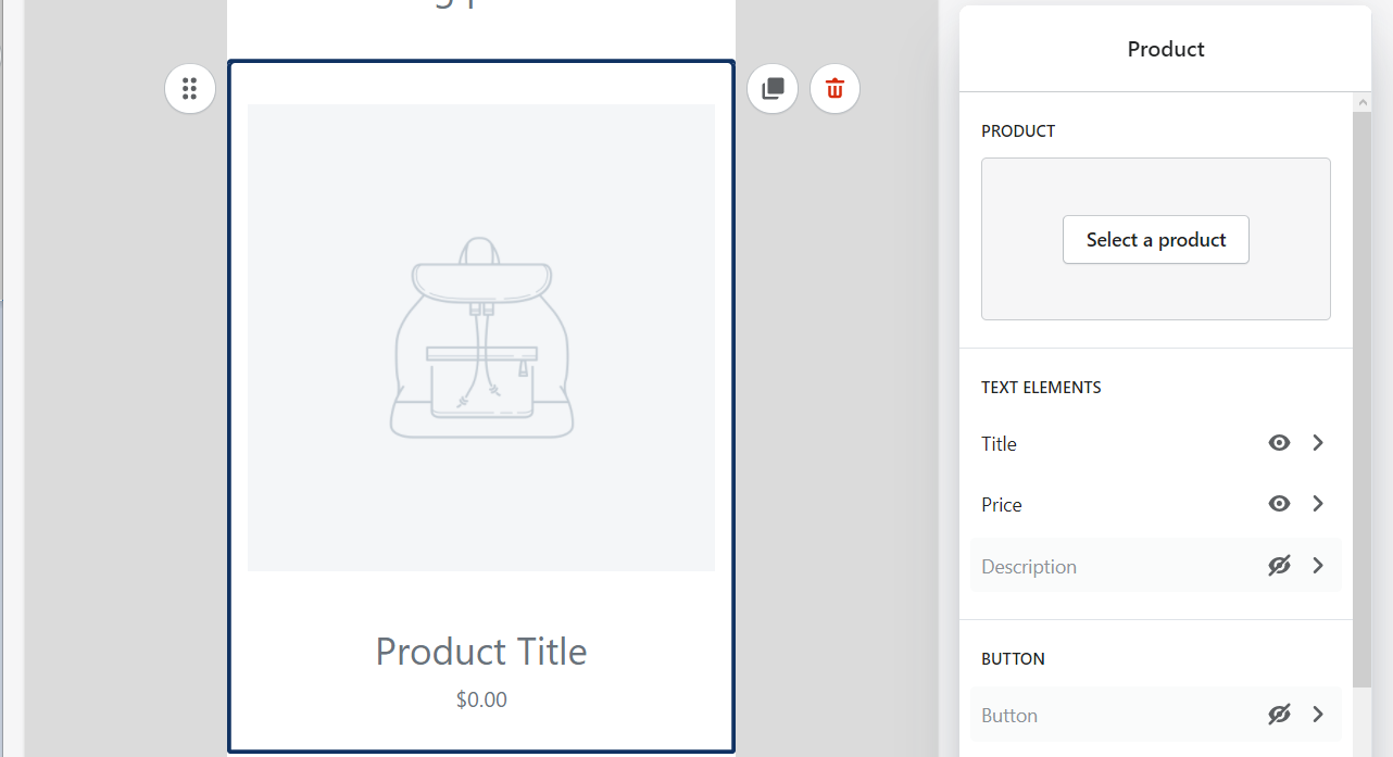 you can edit the product section by specifying the product showcased in the section.