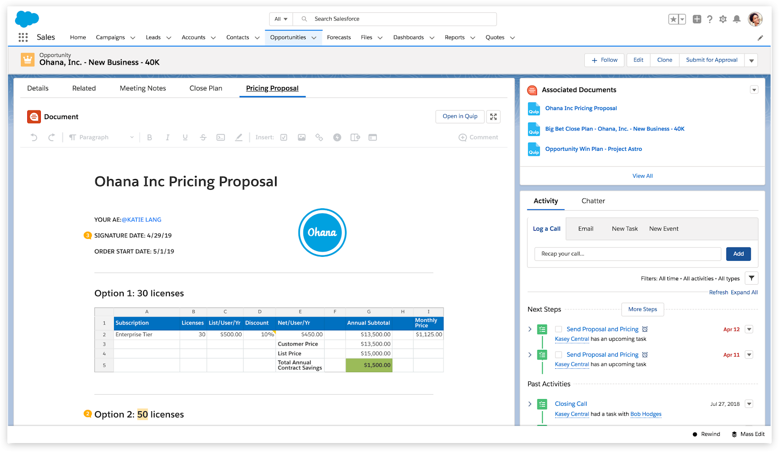 Quip is a spreadsheet combined with a document processor integrated with collaboration tools.