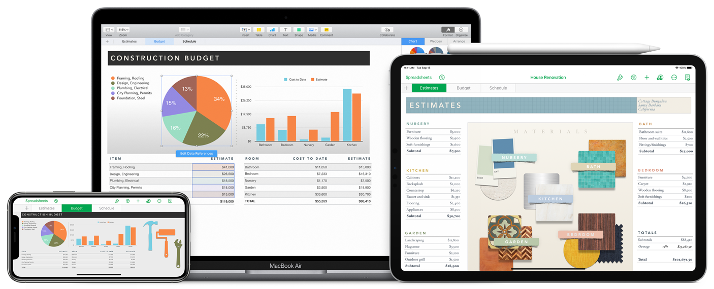 Numbers is Apple's response to Microsoft Excel, adding more features and making it free for Apple devices.