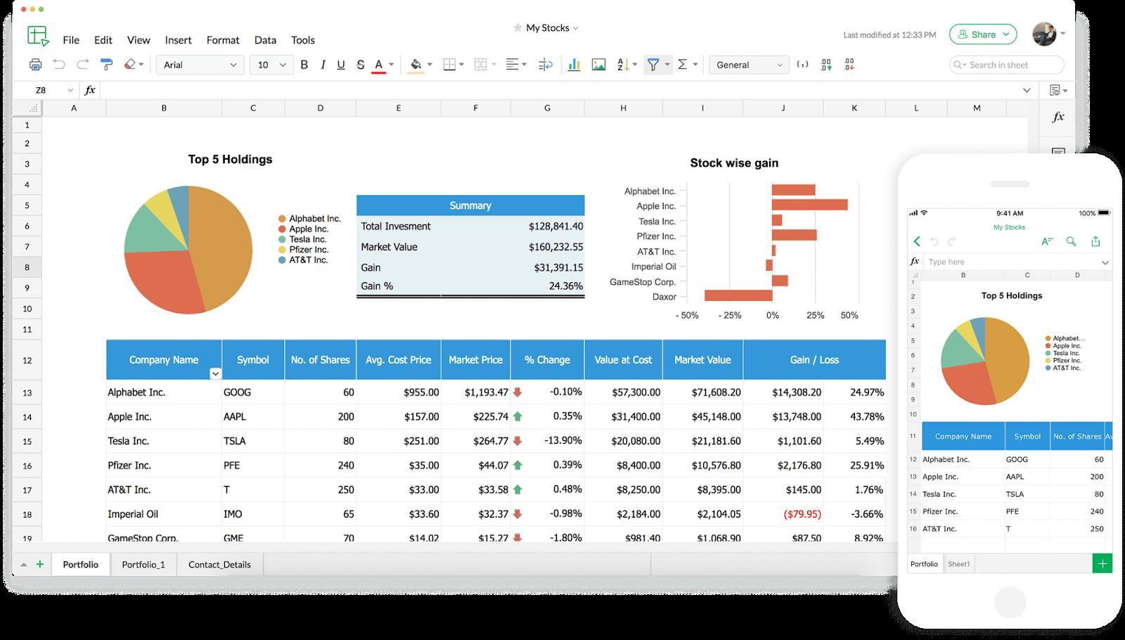 Zoho Sheet is a popular alternative to Google Sheets.