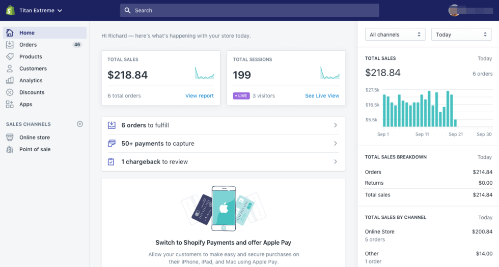 Shopify is the most popular B2B SaaS for setting up an online shop.