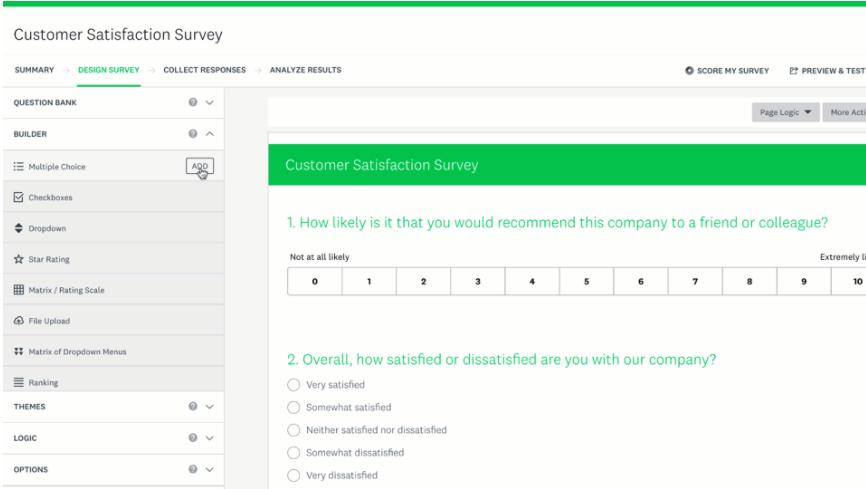 SurveyMonkey is a popular B2B SaaS app for conducting surveys.
