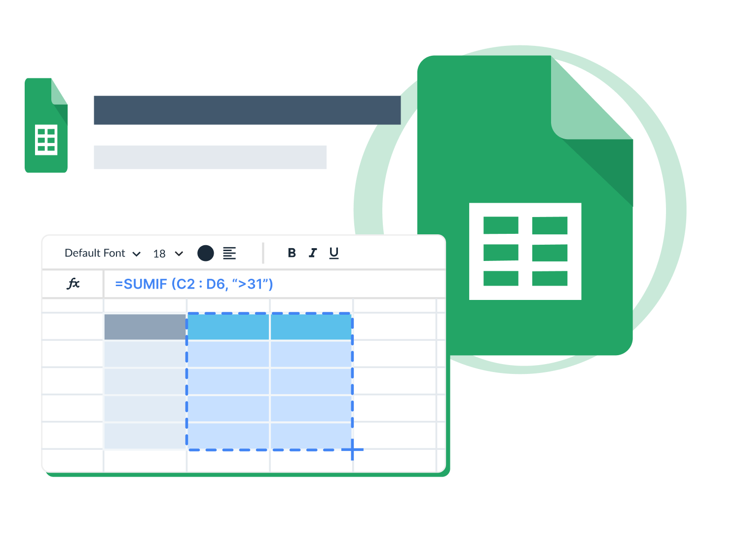 Microsoft excel icon and sheet.