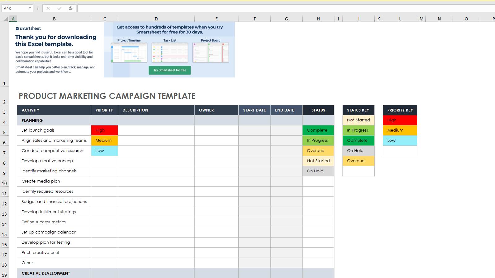 Product Marketing Campaign Template