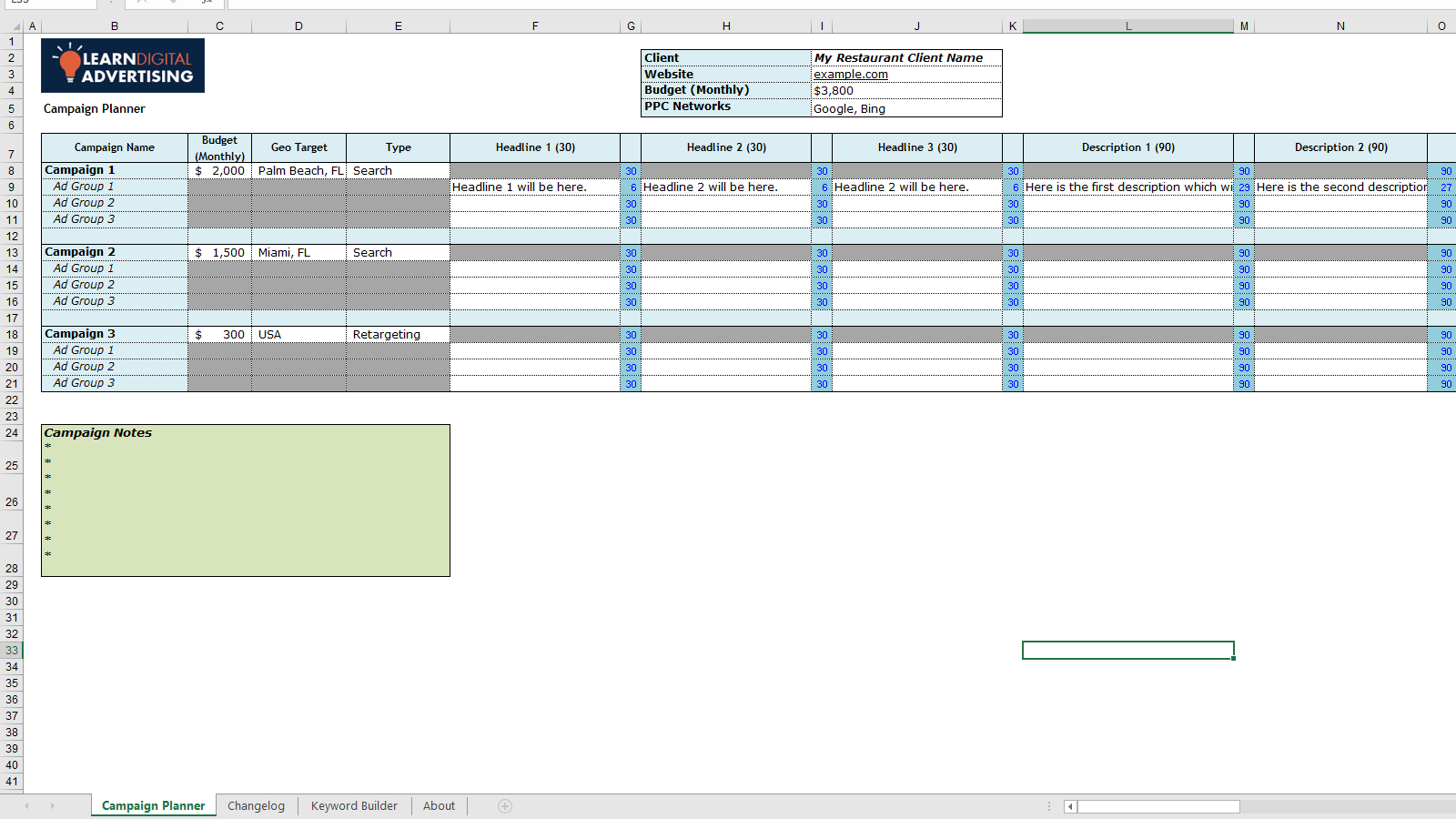 Adwords Ad Planner