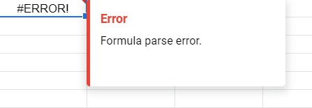 This simply means that you have a syntax error or two in the formula.