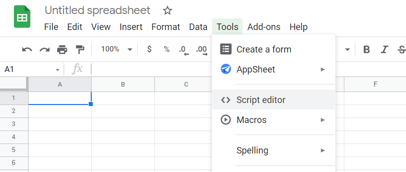 Tools, Script editor