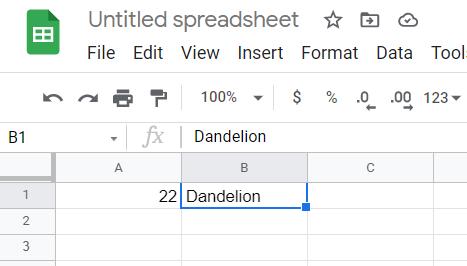 Google Sheets. Data from Firebase loaded.