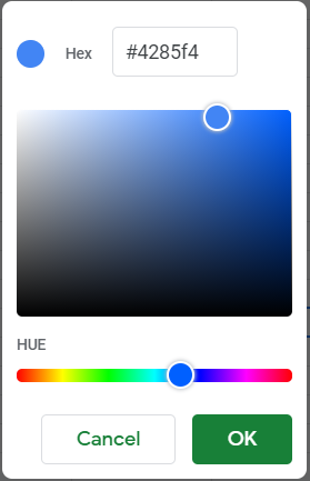 A more sophisticated color palette.