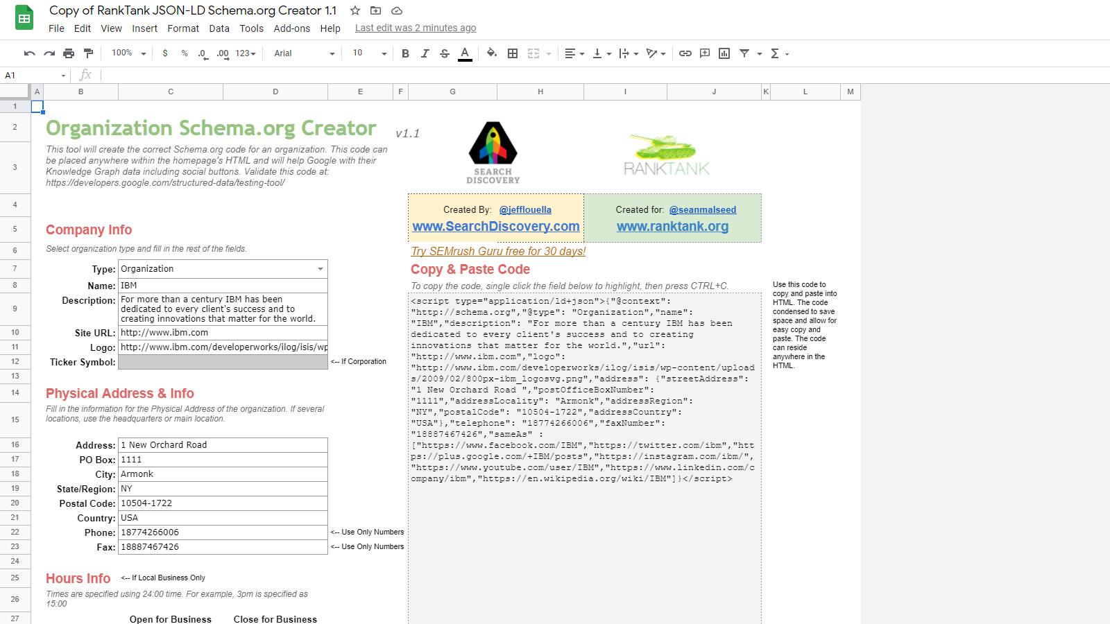 Structured Data & Sitelinks Builder