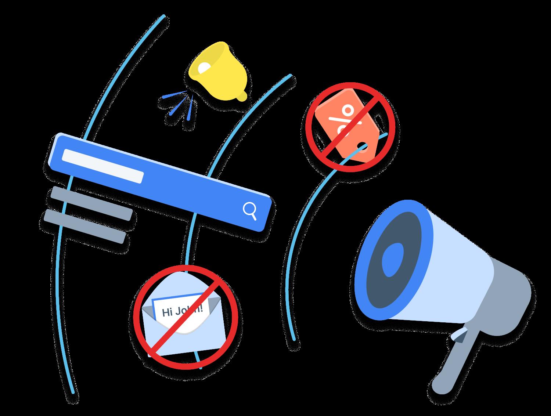 Megaphone and marketing icons