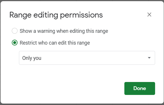 Restrict the editing permissions to your account alone.