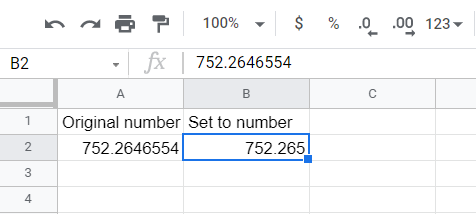 The set number with two decimal places increased to three decimal places