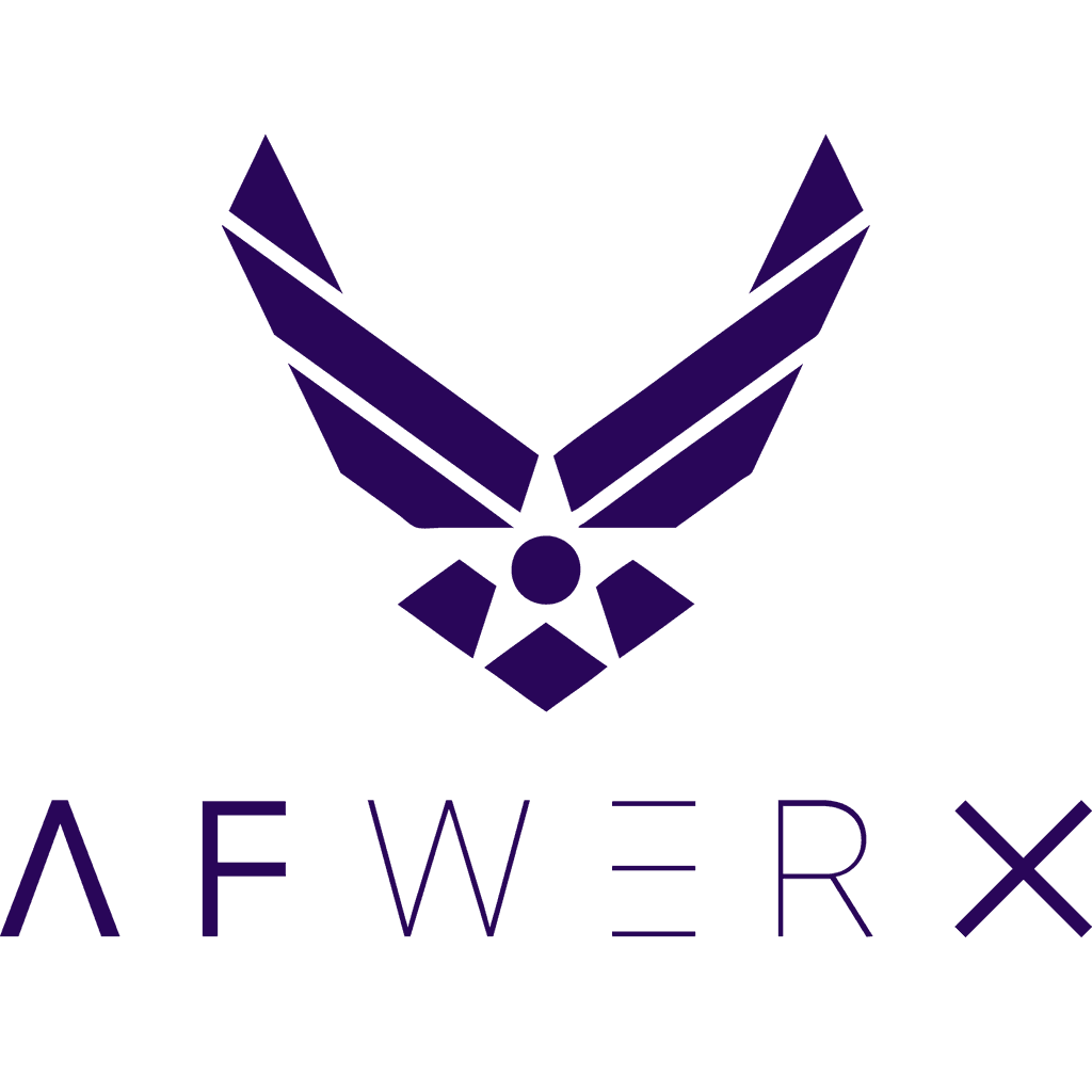 Logo of AFWERX, an award won by Refactr