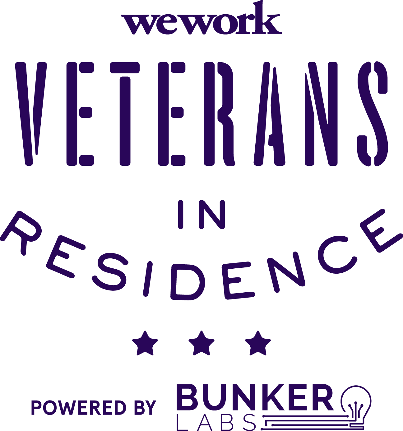 Logo of WeWork Veterans in Residence, an award won by Refactr