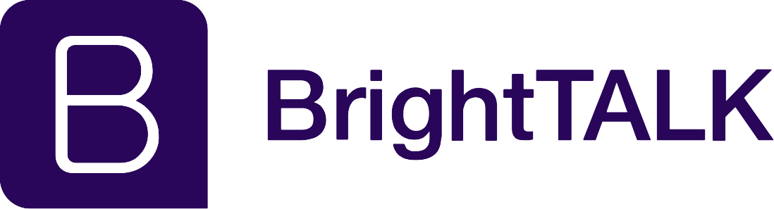 Logo of BrightTALK, representing a webinar given by Refactr