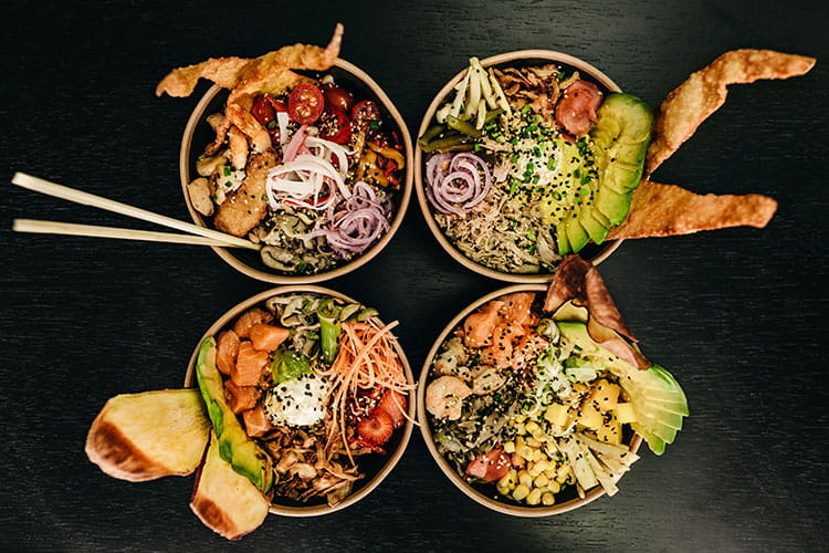 tasty poke bowl corporate catering