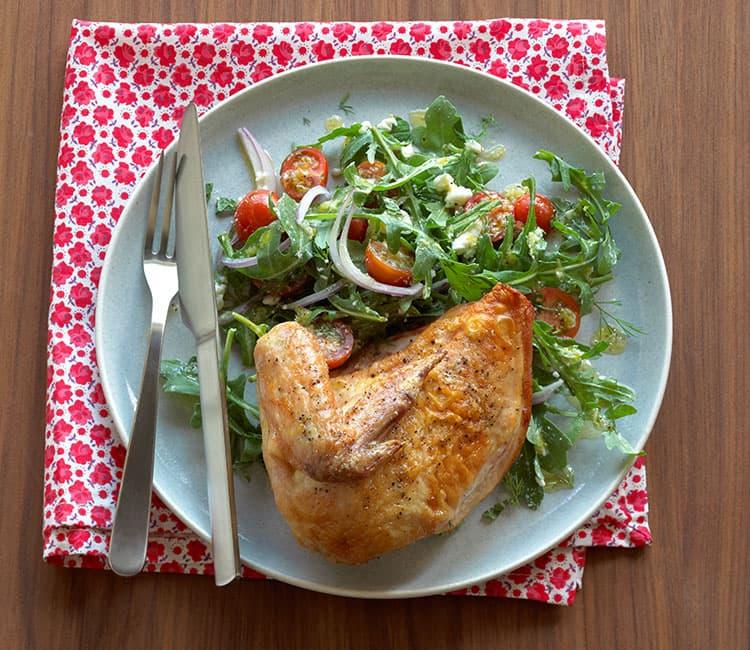 easy work lunch ideas - reuse roast chicken in salad