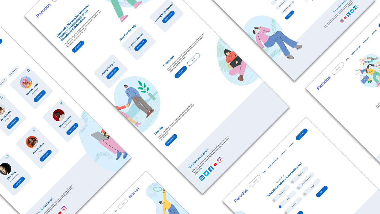 Parados product wireframes