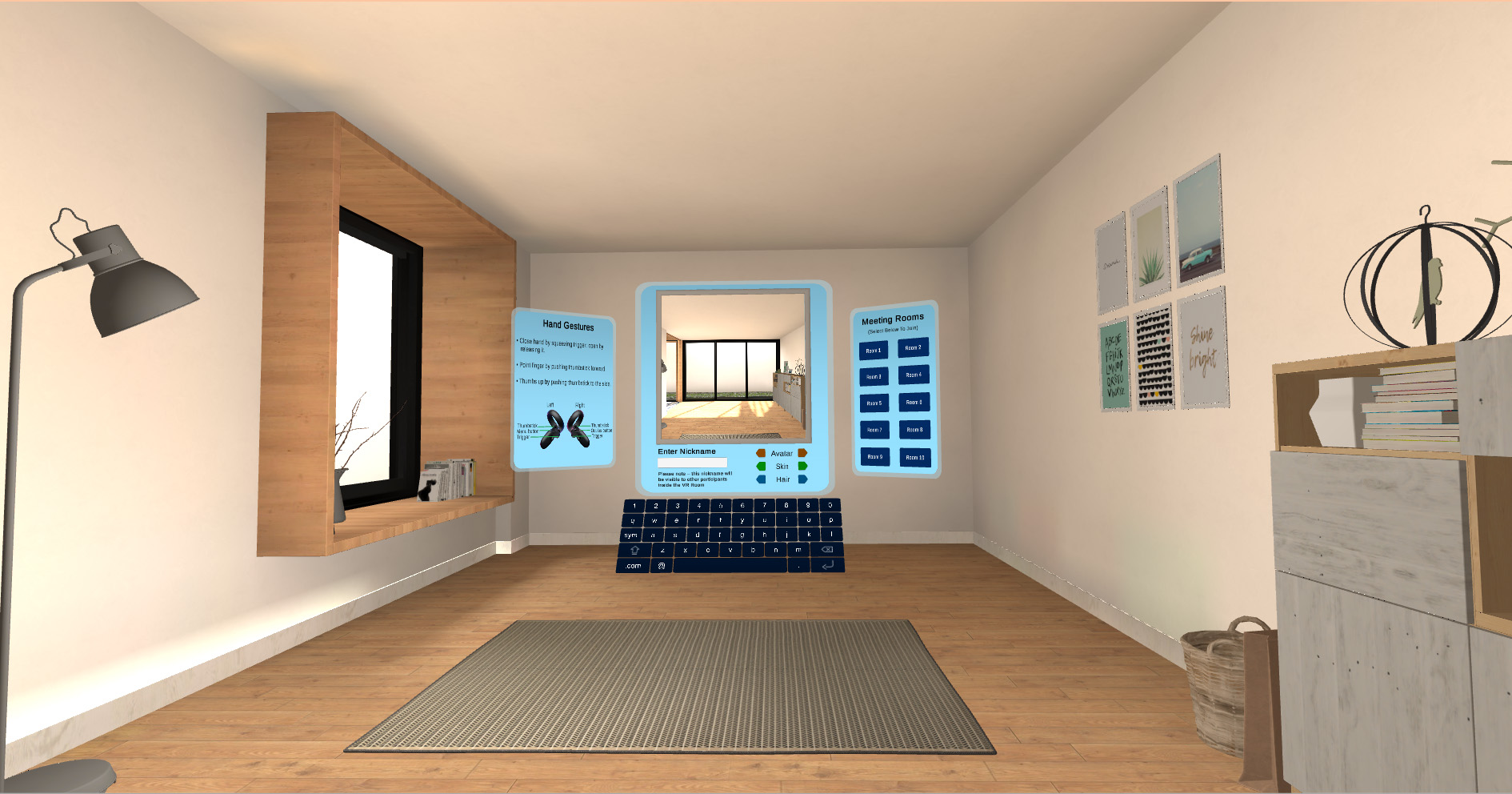image of Starting Room in VR simulation