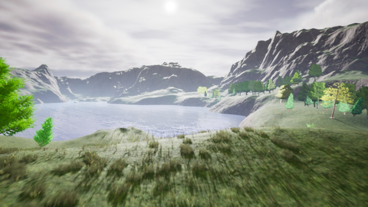image of computer generated landscape of nature