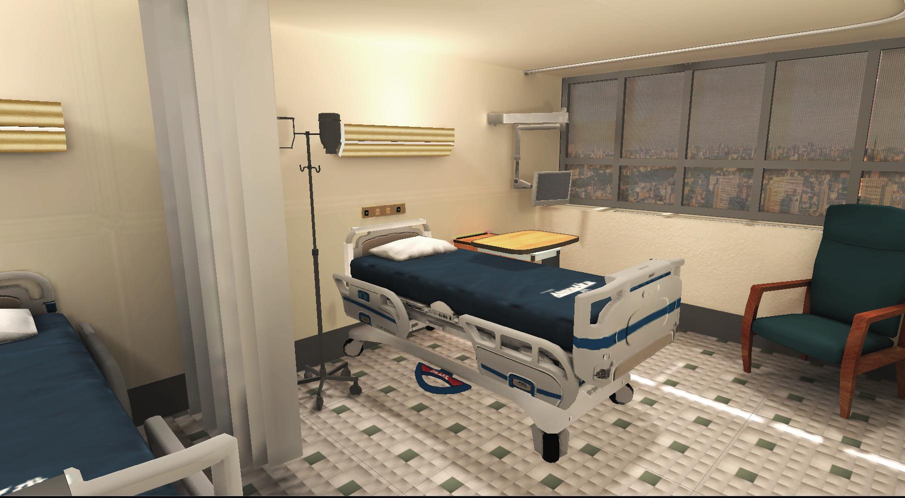 image of hospital room for VR simulation
