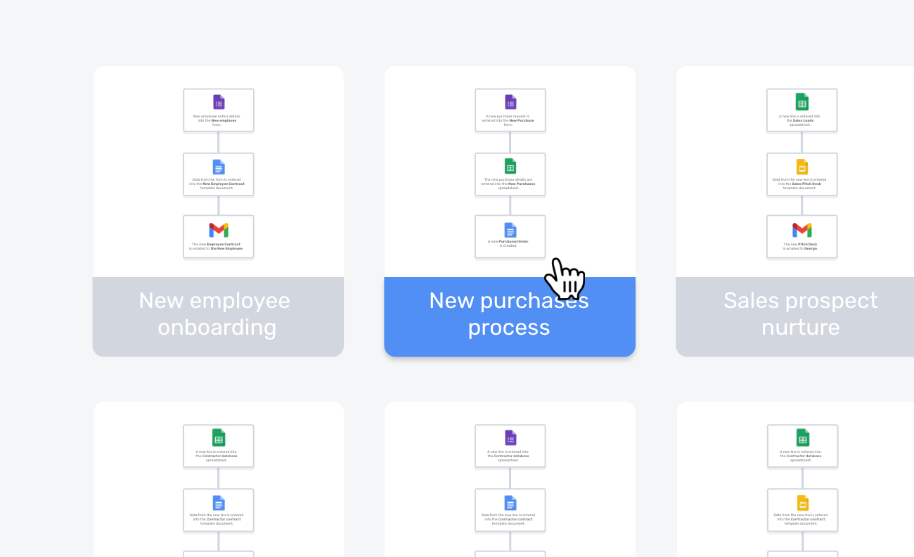 A graphic of a folder of workflows
