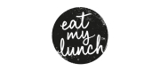 Logo for eat my lunch, in black and white