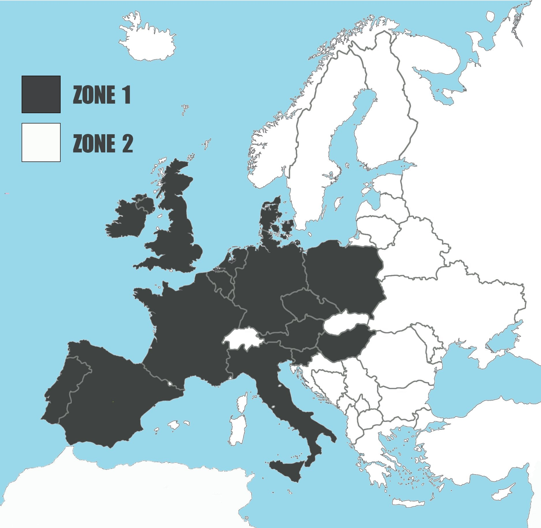 Shipping zones Europa