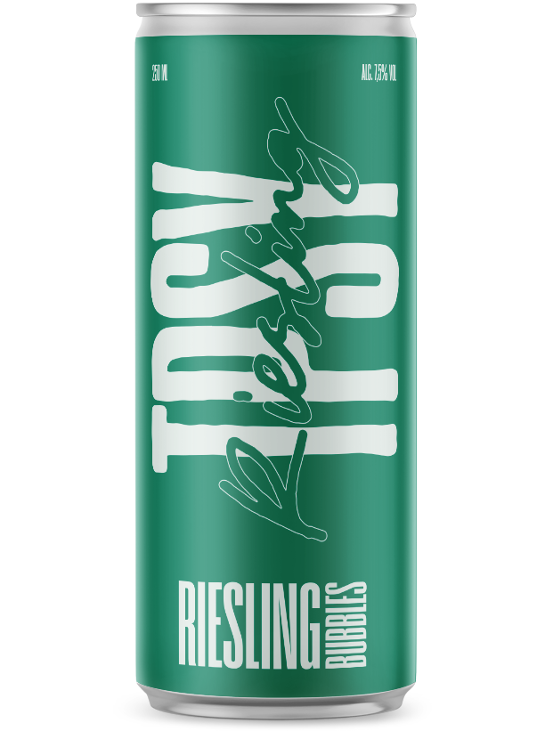 TPSY Riesling Bubbles canned wine