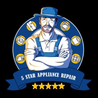 5 star appliance repair logo