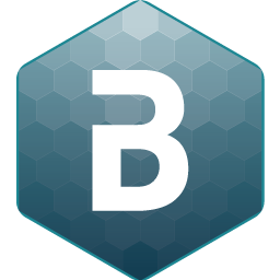 cmBuilder Logo hex icon with B text