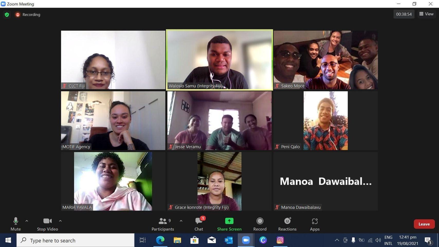 May be an image of 14 people, including Maria Yavala, Chelsea Cain, Samu Walosio and Sakeo Moceinacama Ravesi, screen and text