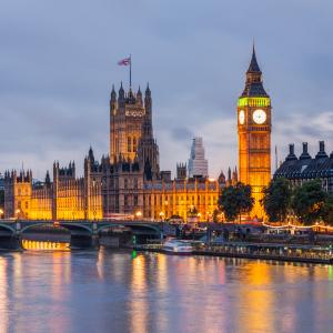 London, Big Ben at dusk