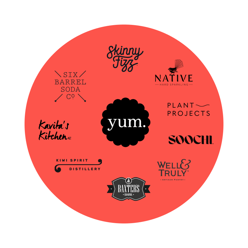 Logos of some of the many suppliers who offer free samples exclusively on Upstock