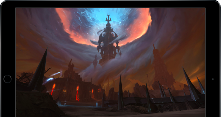 world of warcraft shadowlands picture in a ipad