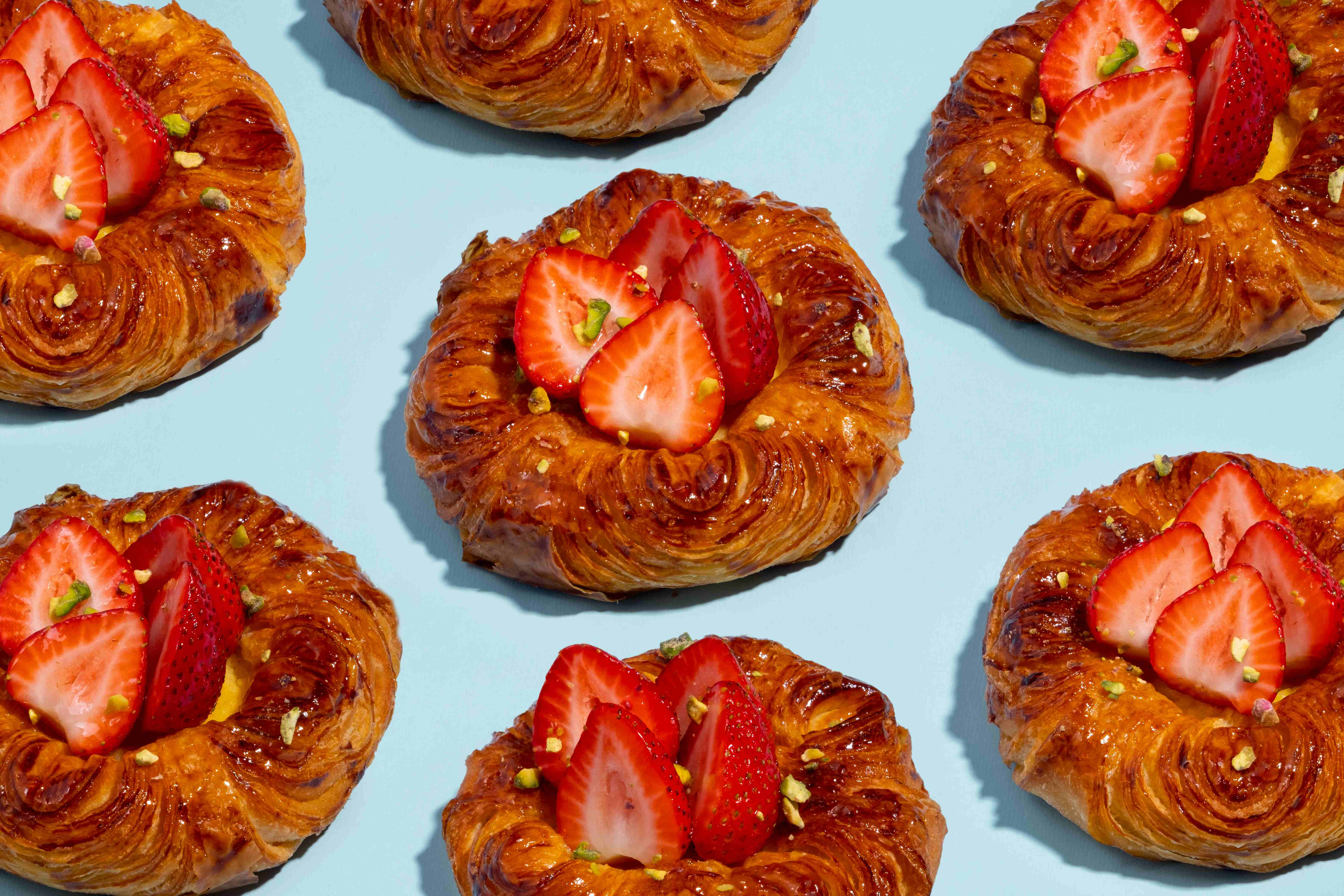 Bakehouse strawberry and pistachio danish