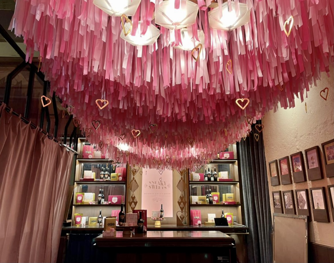 Visual Merchandising store front retail display at The Bombay Canteen