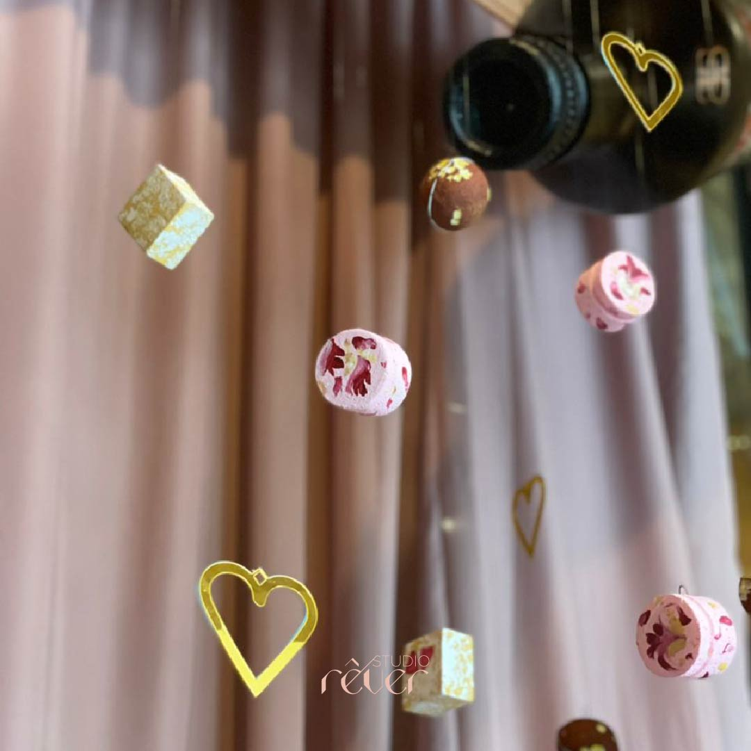 Creative brand installation at the Bombay Canteen for a Sneaky Sweets themed Valentine's Day pop up