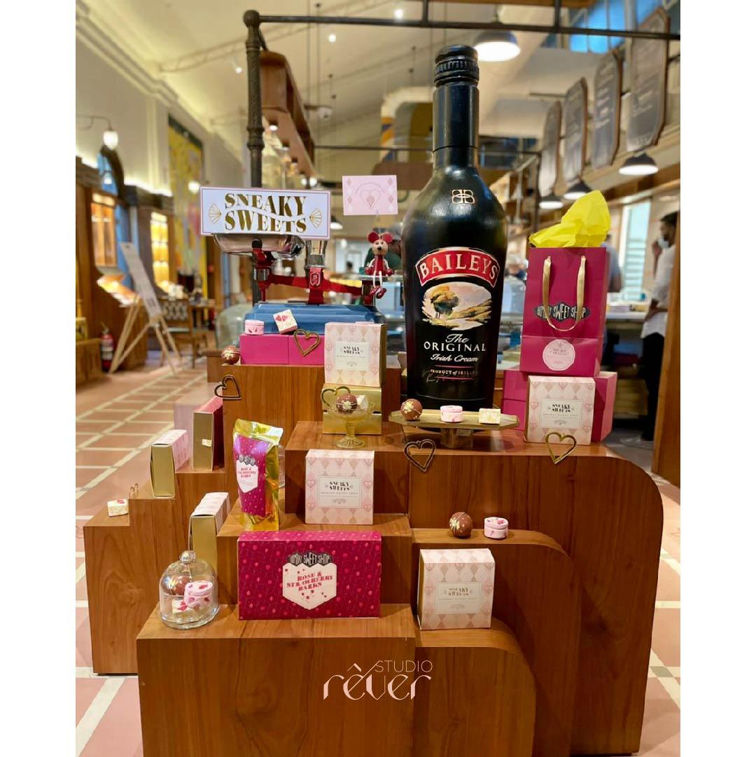 Visual Merchandising store front retail display at Bombay Sweet Shop