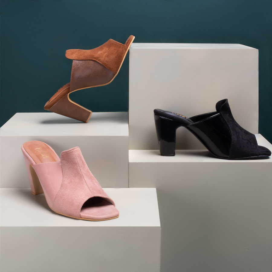 Creative Product styling for a photoshoot for a homegrown Indian shoe brand - Tiesta