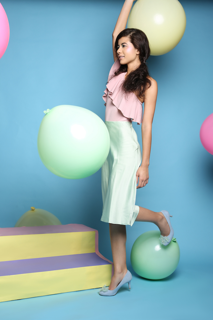 Pastel, playful, fun and creative set design for a concept photoshoot