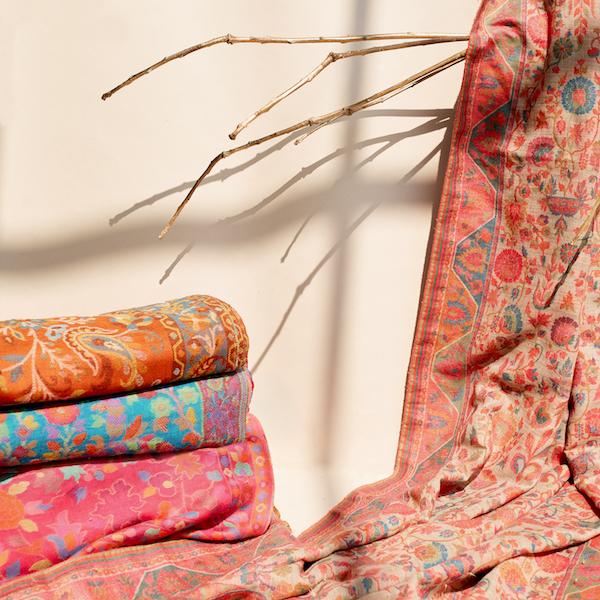 luxury chic product styling / photoshoot styling for luxury shawls