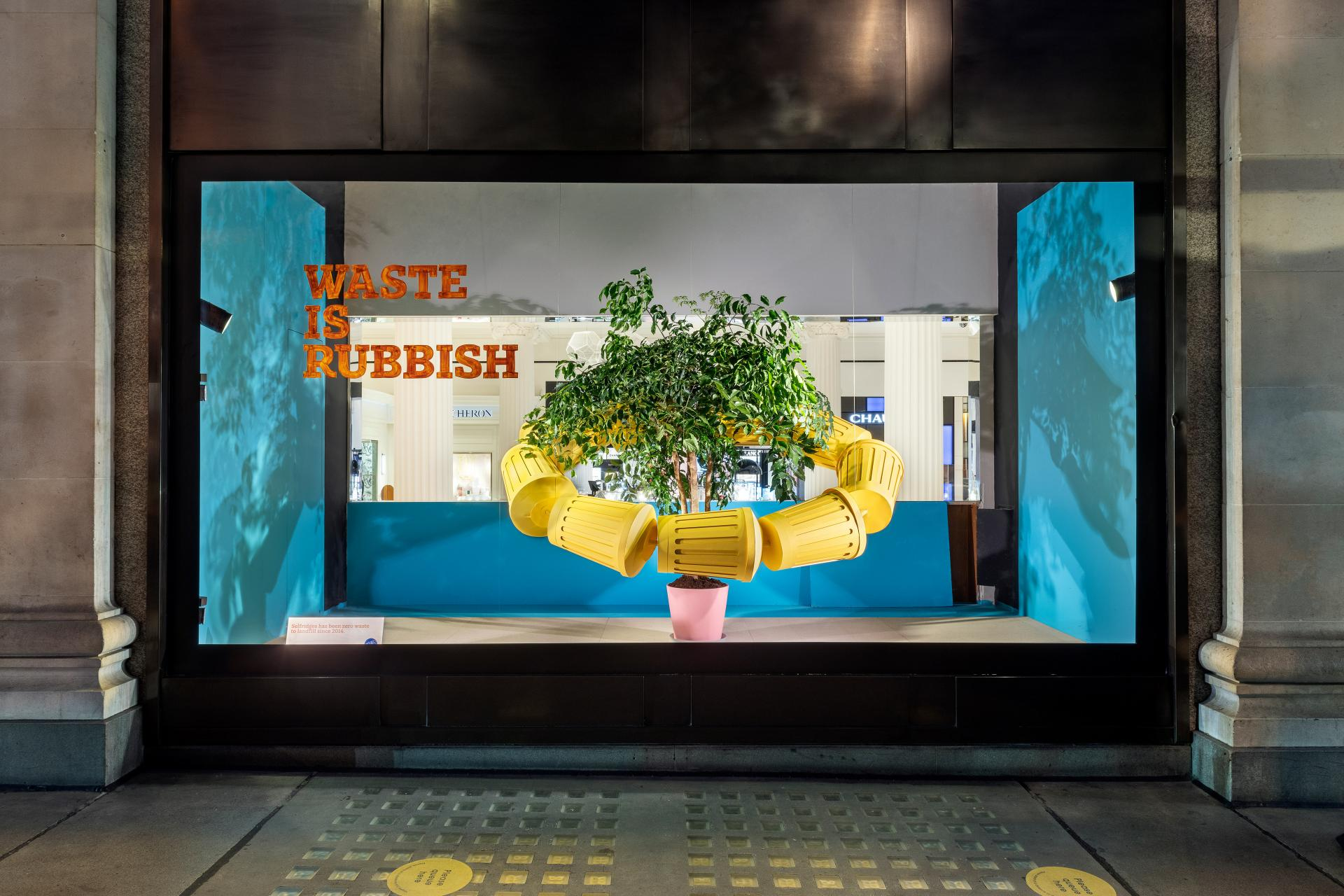 selfridges sustainability window display | The why, wow and how of sustainability in Visual Merchandising | Studio Rêver | Design Blog