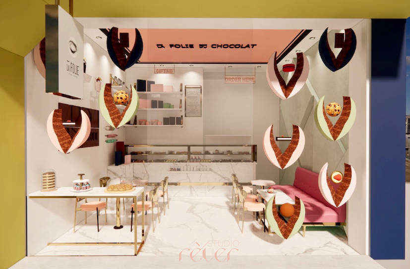 3D visualisation for a window display at La Folie du Chocoat's store